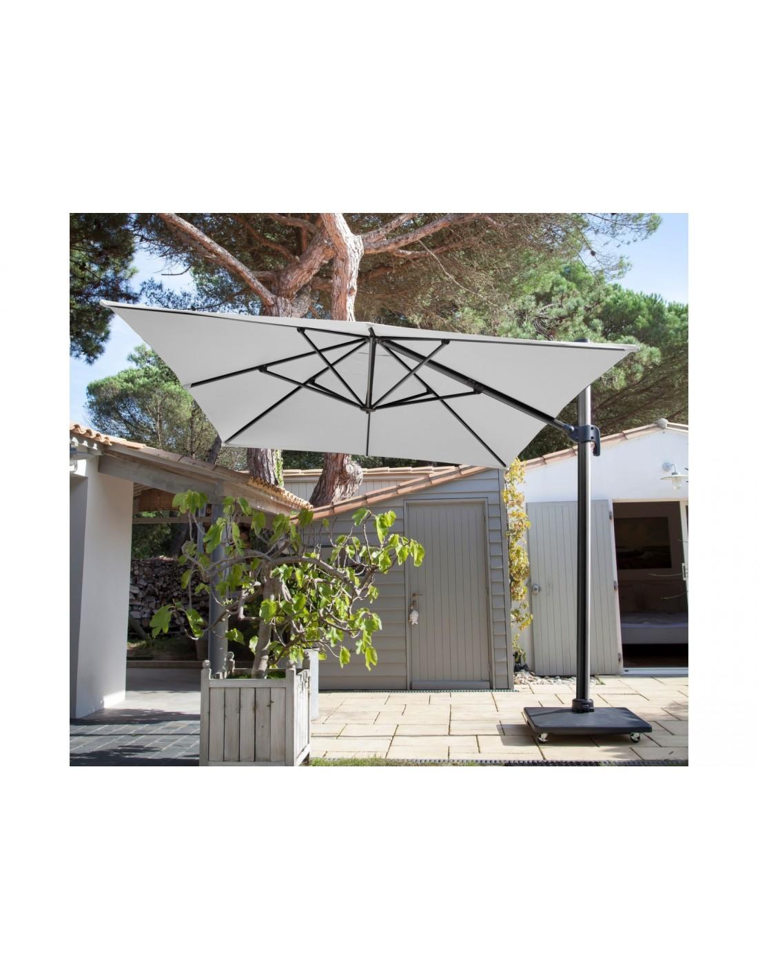 parasol d port grey 3x4m nh rotatif proloisirs. Black Bedroom Furniture Sets. Home Design Ideas