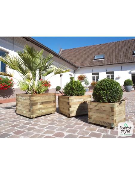 Bac carré 40x40 cm en bois traité autoclave