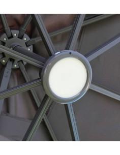 Luminaire LED pour parasol déporté rechargeable - Proloisirs