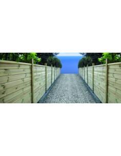 Latte de finition pour clôture à emboîter - 2 types au choix