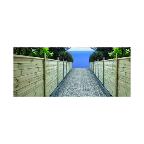 Latte de finition pour clôture à emboîter - 4 types au choix