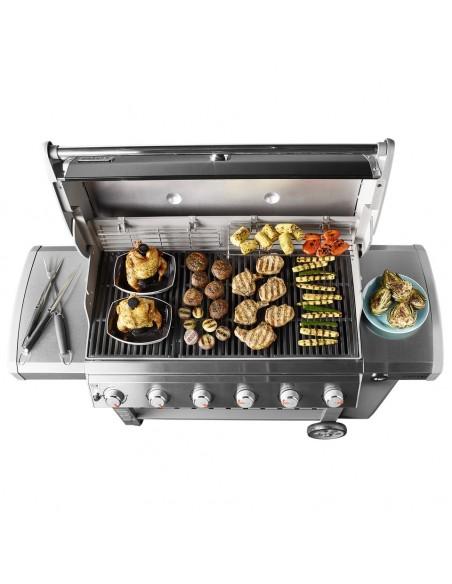 Barbecue à gaz Genesis II LX S-640 Gbs inox avec réchaud latéral - Weber