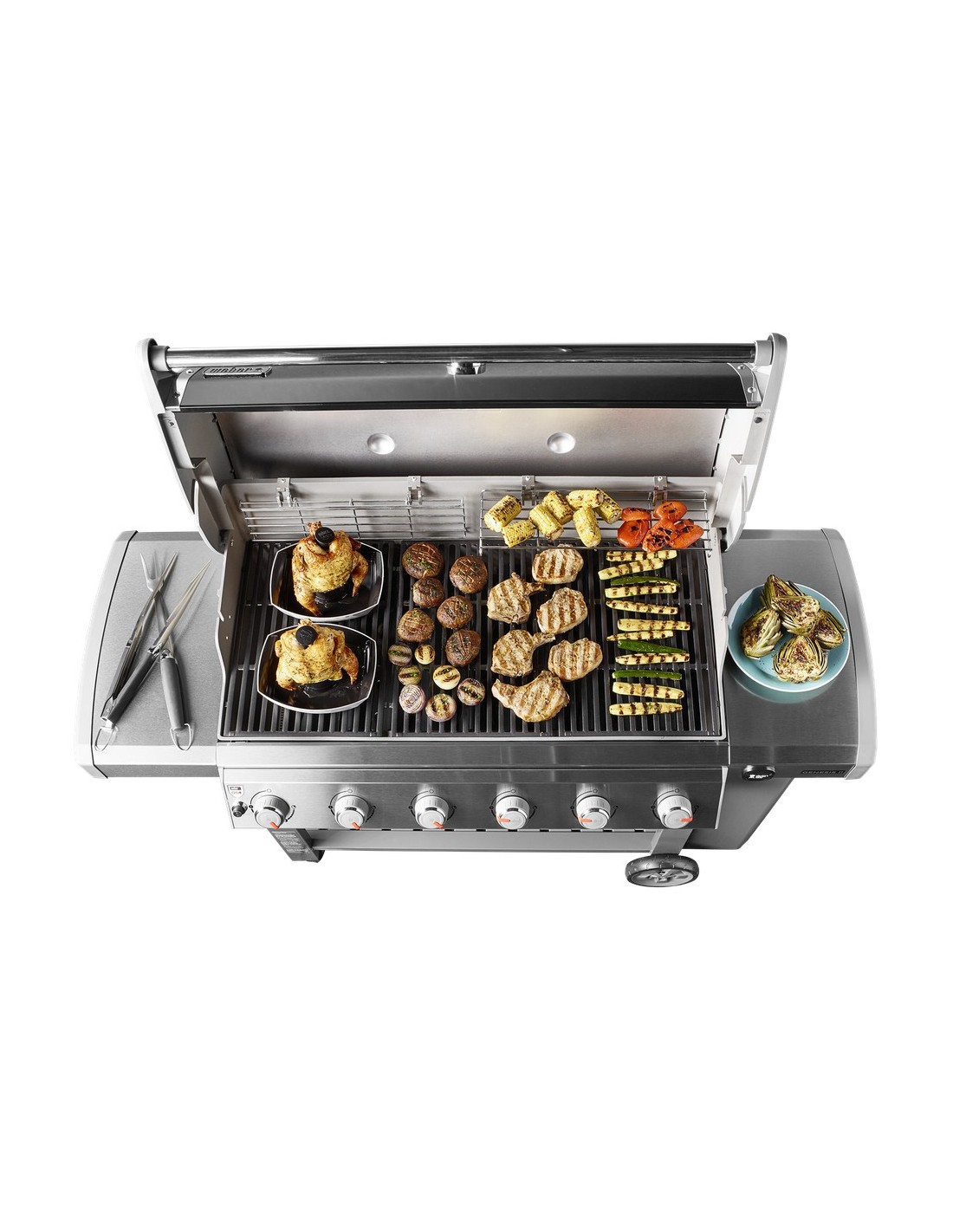 barbecue gaz genesis ii lx s 640 gbs inox plancha offerte weber. Black Bedroom Furniture Sets. Home Design Ideas