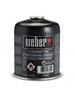Cartouche de gaz Weber petit format 445 gr pour performer et Q1000