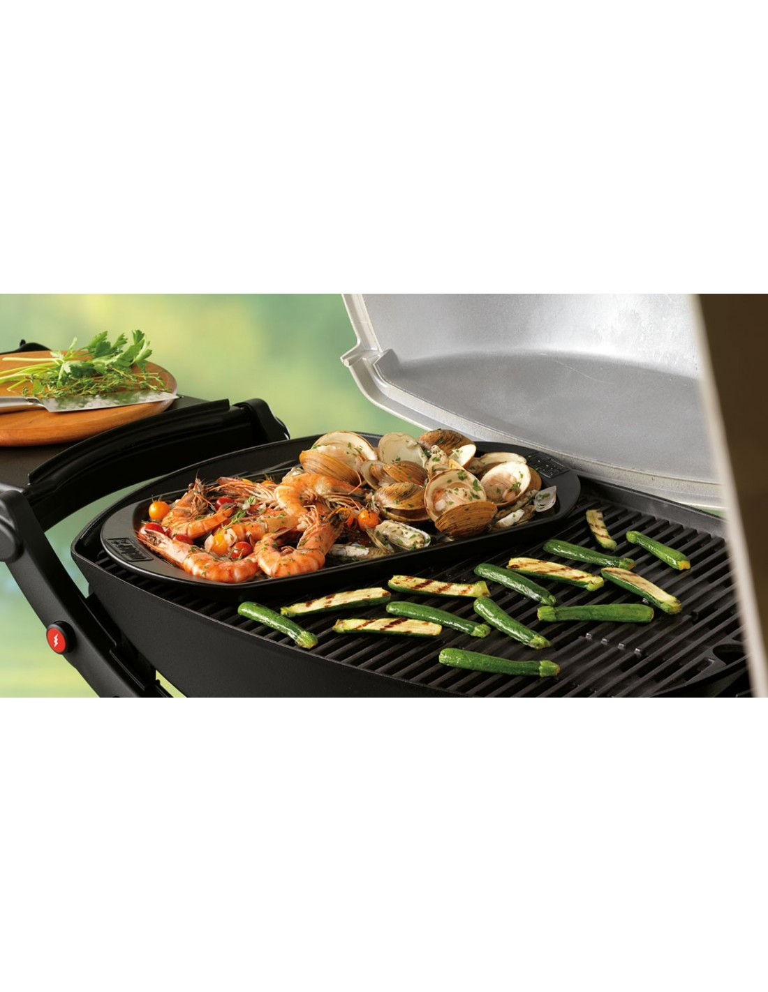 plancha pour barbecue weber en c ramique ovale petit mod le. Black Bedroom Furniture Sets. Home Design Ideas