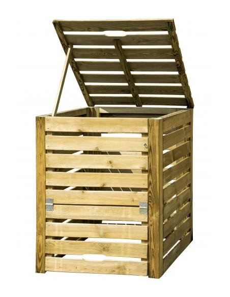 Bac à compost 80x80xHaut. 100 cm - Capacité 550L