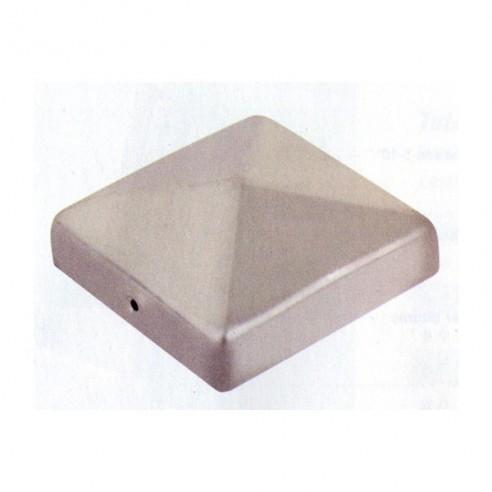 Protections décoratives en inox pour poteaux de 9x9 cm
