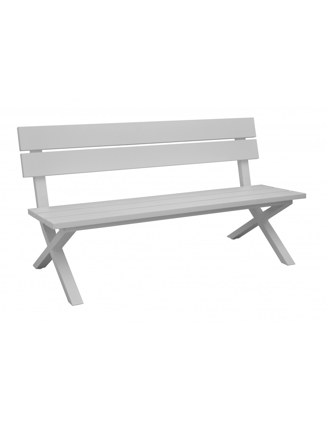 banc de jardin crossway avec dossier en aluminium grey ou blanc oc o. Black Bedroom Furniture Sets. Home Design Ideas