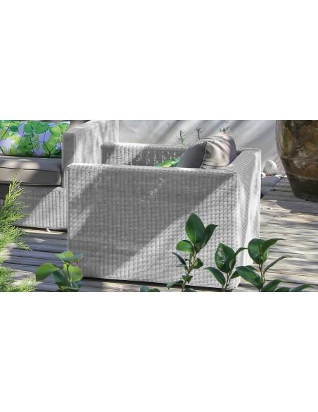 Fauteuil de jardin Meadow White / Taupe - Océo