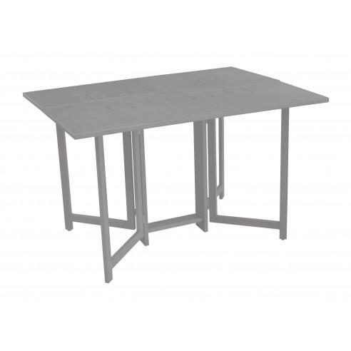 Table de jardin carrée  et pliante - Caly - en aluminium taupe - Océo