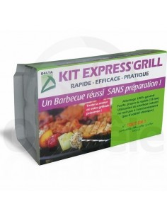 kit express grill - Charbon et allume feu - delta
