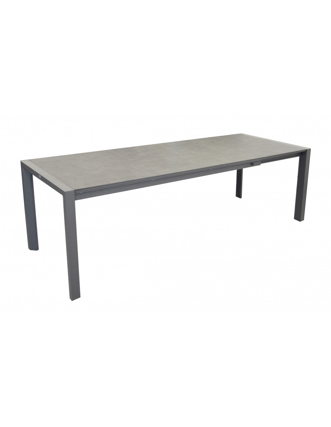 Table milo extensible 140 190 cm plateau trespa grey ou for Table 140 cm extensible
