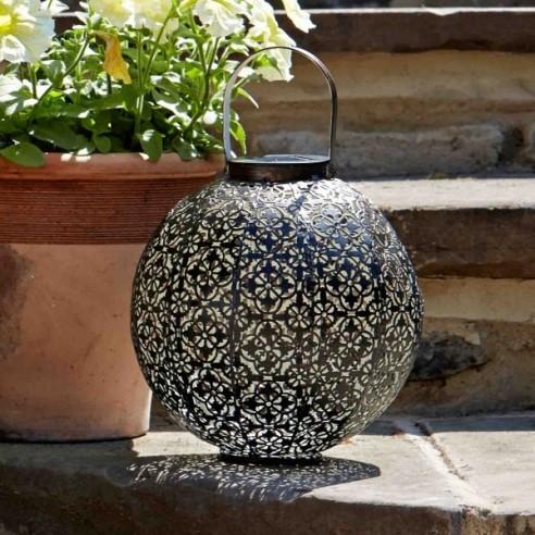 Smart Garden Damasque Lanterne Silhouette Lumière Solaire Jardin Extérieur LED