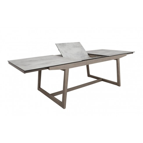 Table extensible skaal en teck duratek et hpl les jardins for Table extensible 270