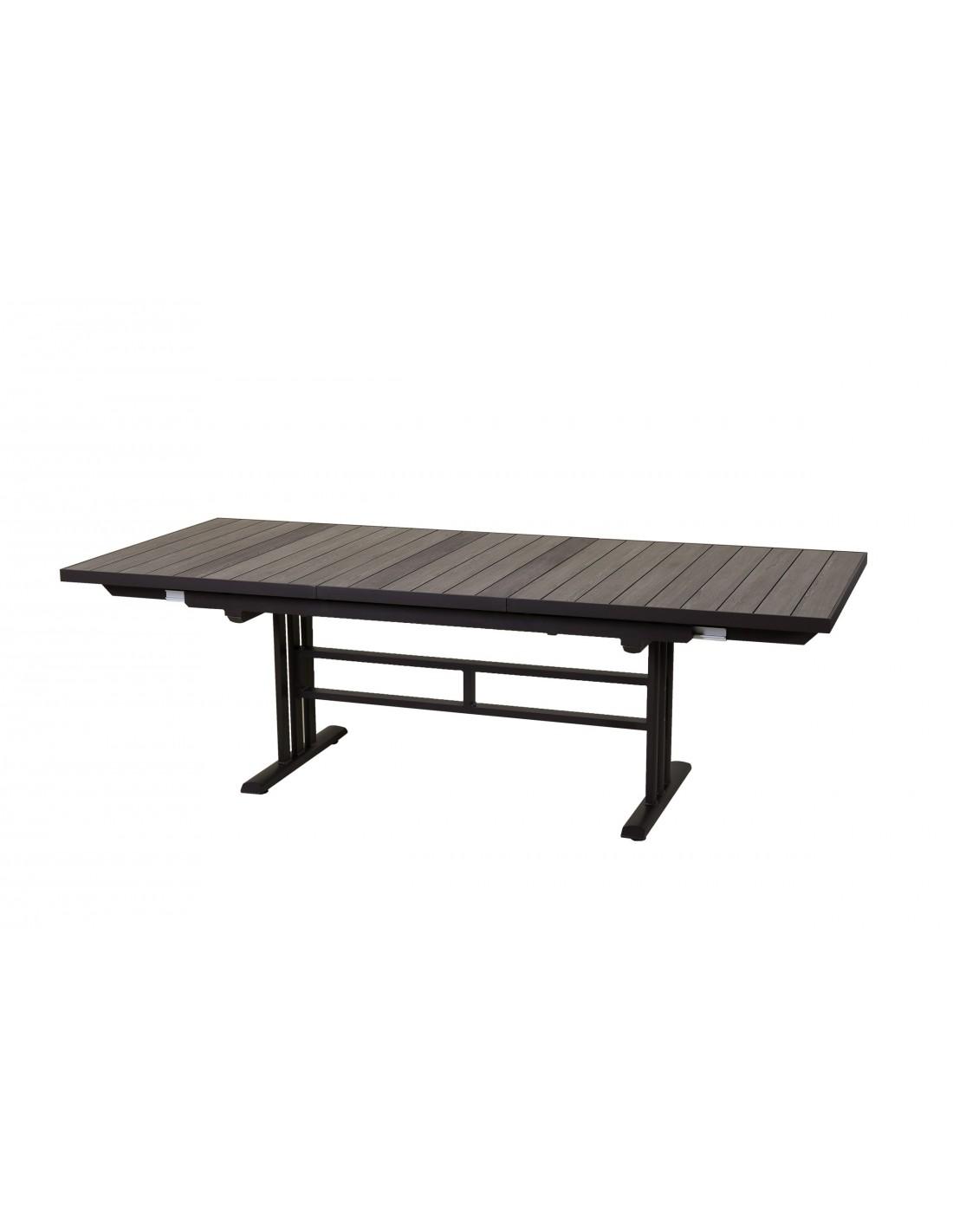 Table TWIG extensible 190 à 264 cm Aluminium plateau HPL ...