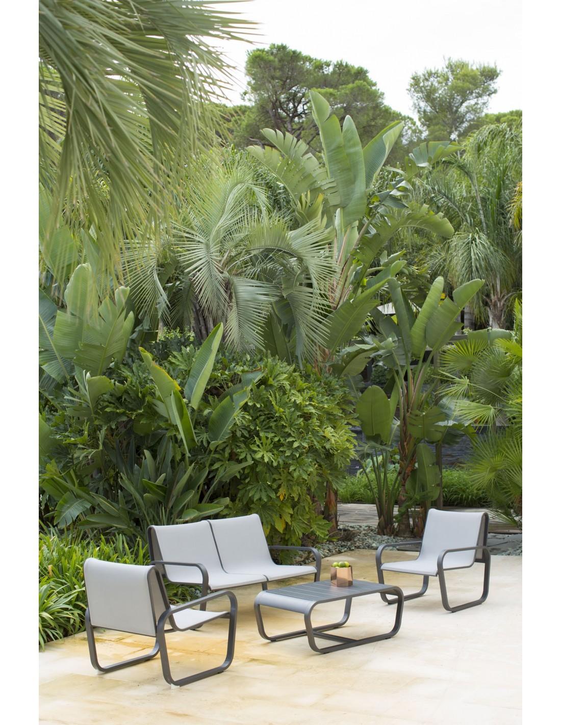 salon de jardin flex 4 places aluminium et pvc les jardins. Black Bedroom Furniture Sets. Home Design Ideas