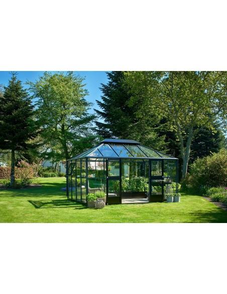 Serre JULIANA+verre trempé sécurit - Naturel ou anthracite de 13 m²