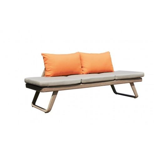 Bain de soleil convertible en canapé LOFA résine naturel - Les Jardins
