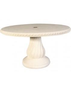 Table Ovale 140 x 100 cm en pierre reconstituée ref 242 - Grandon