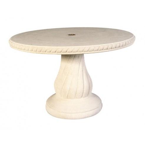 Table ronde 120 cm n 240 en pierre reconstitu e grandon - Table en pierre reconstituee ...