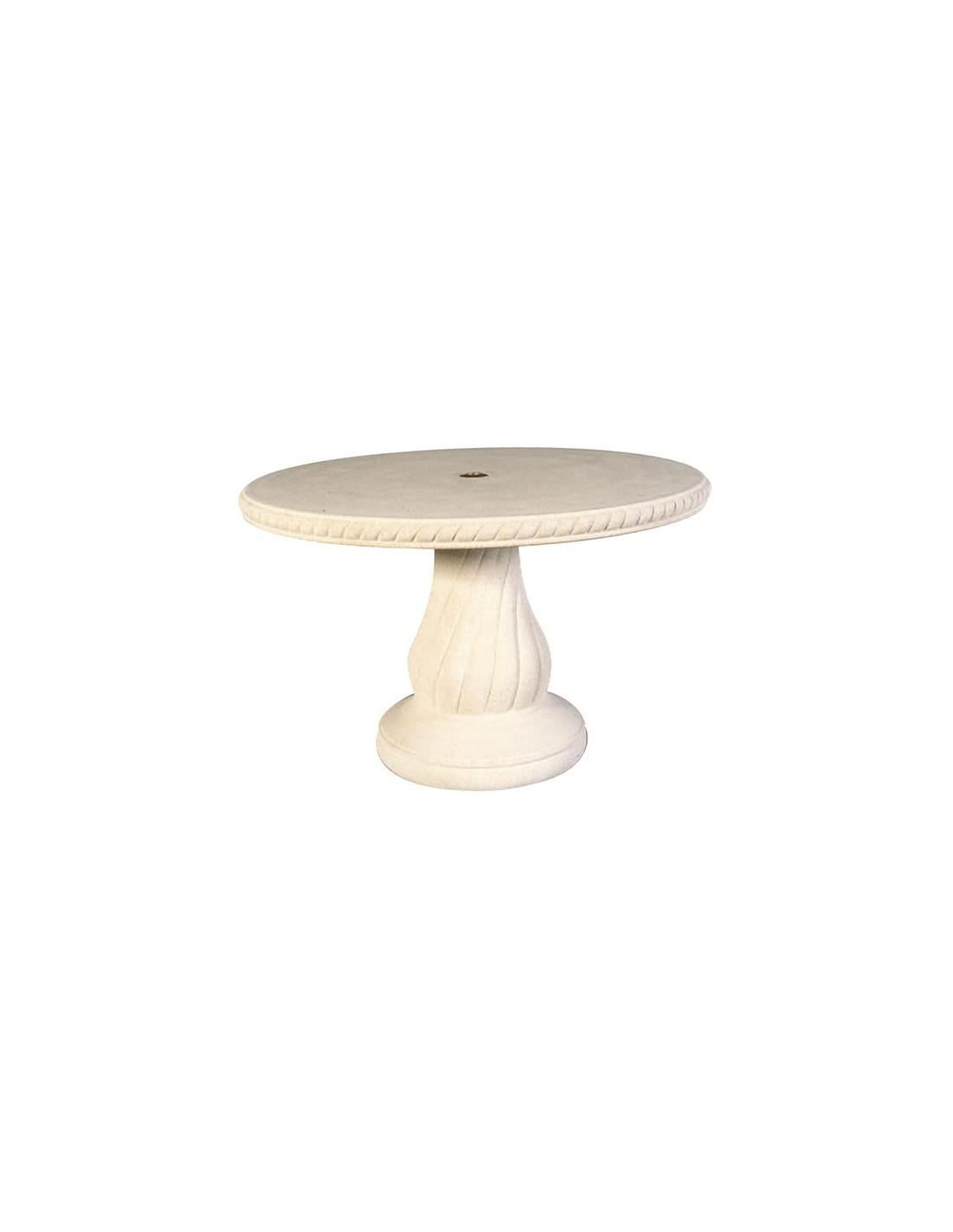 table ronde 120 cm n 240 en pierre reconstitu e grandon. Black Bedroom Furniture Sets. Home Design Ideas