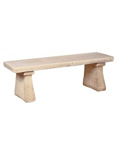 Banc droit simple 123 cm en pierre reconstituée - Grandon