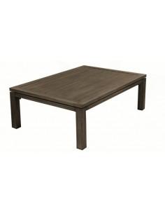 Table basse Latino brun en aluminium 120 x 80 x 49 cm - Proloisirs