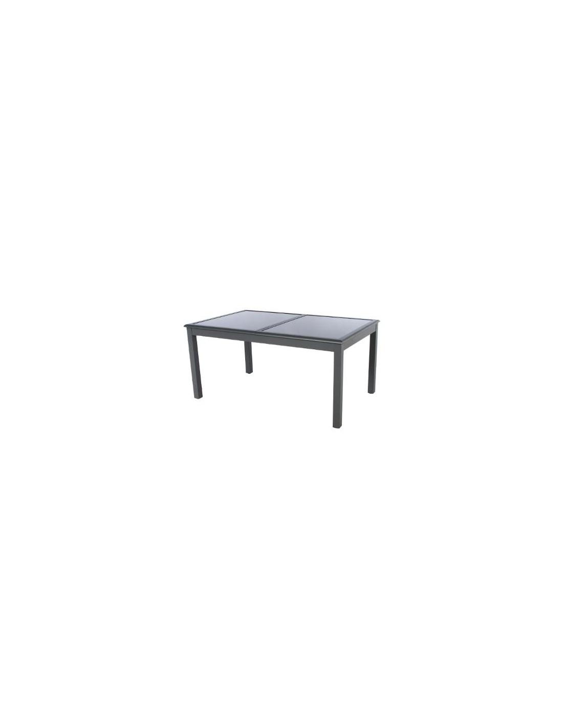 table azua extensible 10 personnes aluminium verre coloris au choix hesp ride. Black Bedroom Furniture Sets. Home Design Ideas