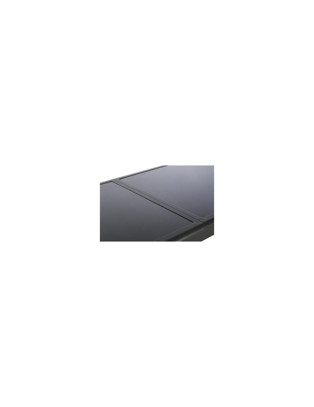 Table azua extensible 10 personnes aluminium verre coloris for Table exterieure extensible verre