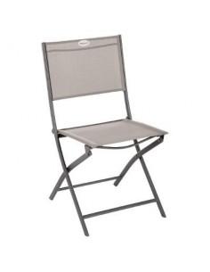 Chaise pliante Modula Tonka - assise noisette - Hespéride