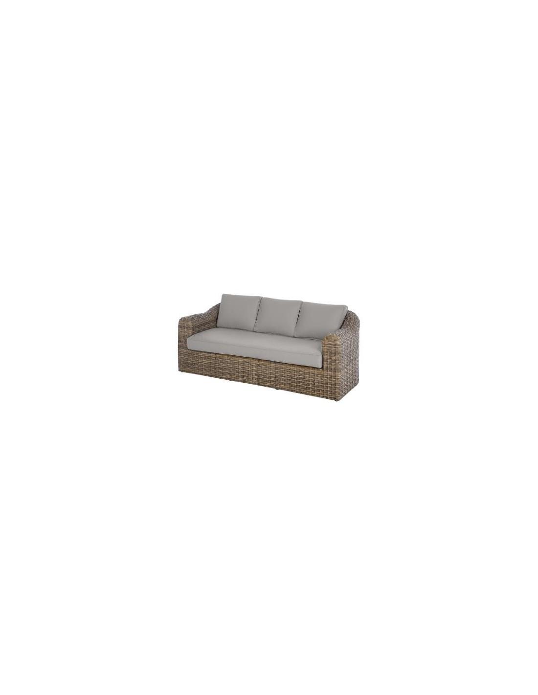 canap 3 places moor a aluminium et r sine hesperide. Black Bedroom Furniture Sets. Home Design Ideas