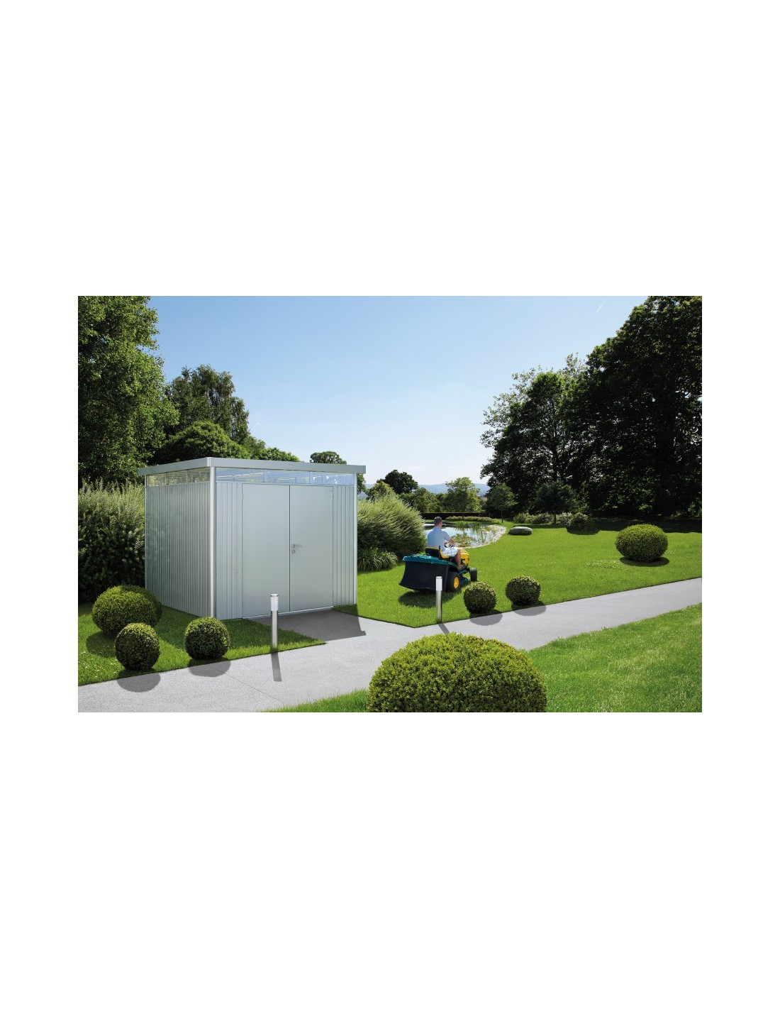 abri de jardin highline biohort double portes de 4 3 8 7 m. Black Bedroom Furniture Sets. Home Design Ideas