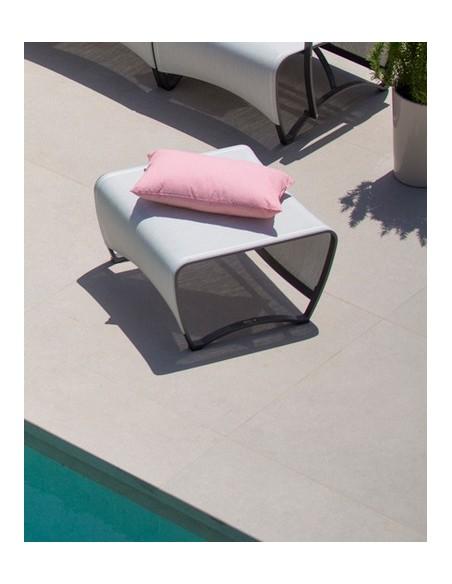 Table basse 70 x 70 jet stream - Aluminium et HPL - Coloris au choix - Les Jardins