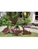 Figurine décorative poule à piquer