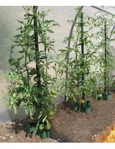 Tuteur à tomate 180 cm vert foncé ou anthracite - Pouss'vert