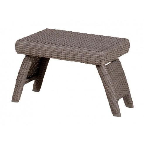 Table basse pliante Duna en résine Wicker - Les Jardins