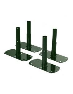 Pack de 4 pieds pour sol dur et tubes ronds de diamètre 20 mm