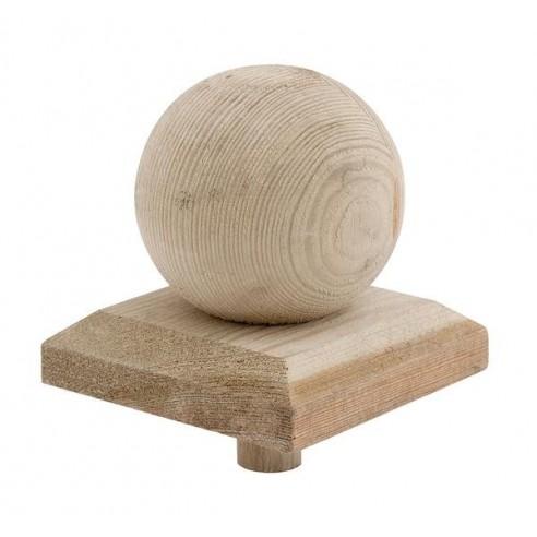 protection d corative sp rique en bois pour poteau de 9x9 cm. Black Bedroom Furniture Sets. Home Design Ideas