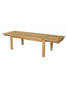 Table de jardin stafford en teck avec double extension - Les Jardins
