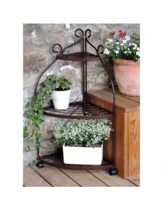 Porte-plantes 4 pots coloris gris martelé - Louis Moulin