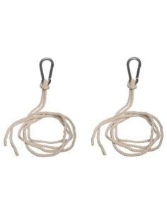 Kit de fixation Hamac avec cordes et mousquetons - Hespéride