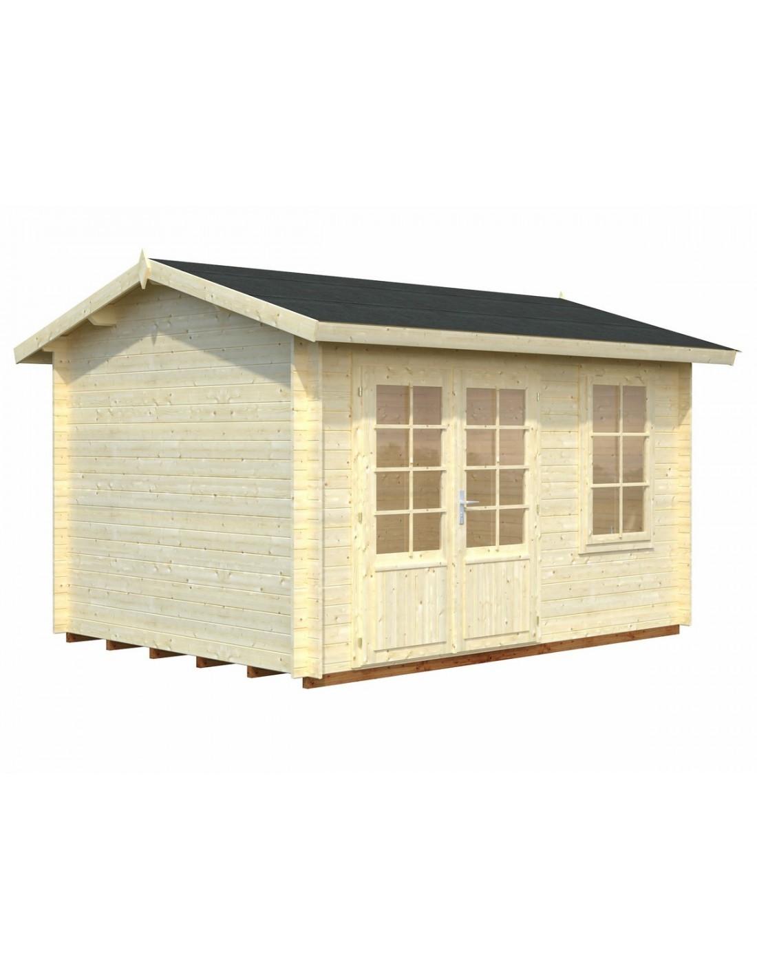 Abri de jardin iris 9 7 m avec plancher bois massif 28 mm for Abri de jardin avec plancher