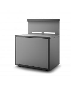 Support plancha acier avec portes et credence - Forge Adour