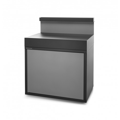Support plancha acier avec portes et credence basse - Forge Adour