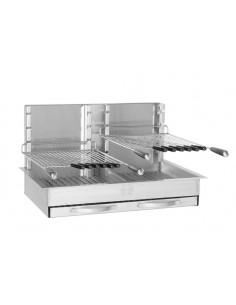 Gril Inox 86x54x48 cm encastrable avec 2 petites grilles - Forge Adour
