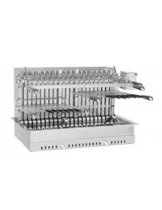 Gril Inox 92x54x54 cm encastrable 2 grilles réglables - Forge Adour