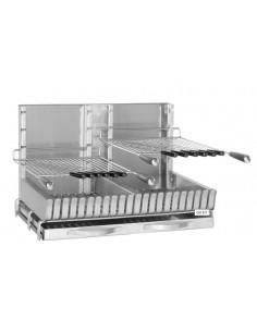 Gril Inox à poser 87x45x48 cm 2 grilles réglables - Forge Adour