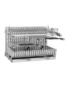Gril Inox à poser 92x56x52 cm 2 grilles réglables - Forge Adour