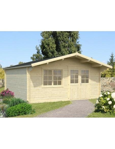 Abri de jardin Britta 23 m² en bois massif 40 mm