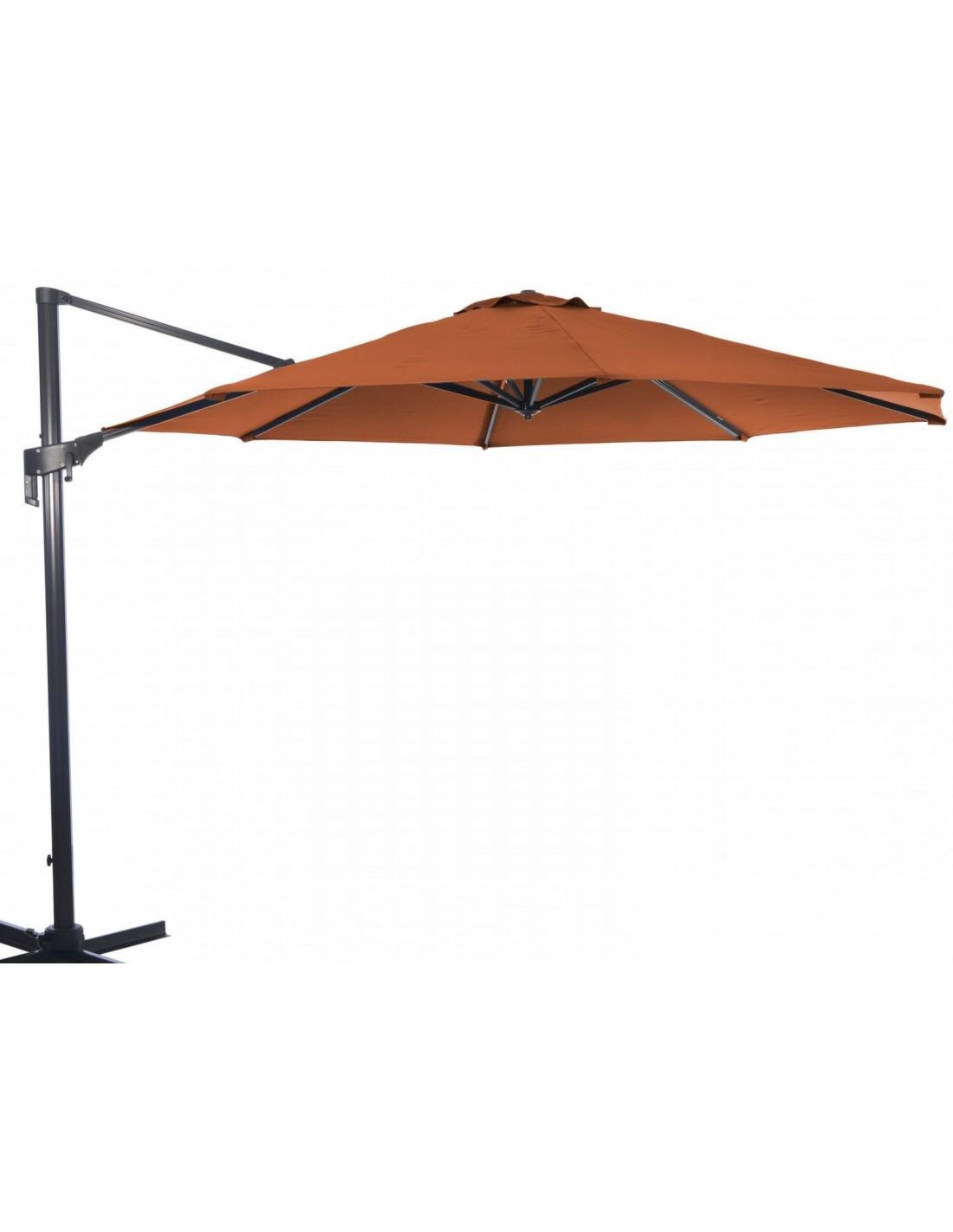 parasol d port m nh rotatif et inclinable proloisirs. Black Bedroom Furniture Sets. Home Design Ideas